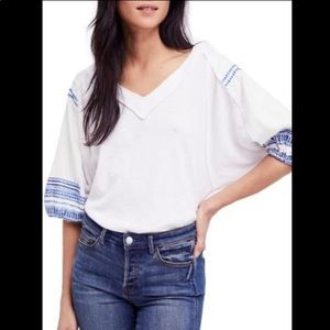 We The Free Flowy Bubble Sleeve Thermal Blouse